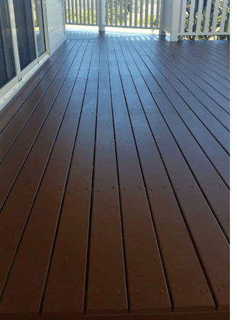 Decking painting - before